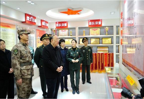驻渝某部一连荣誉室